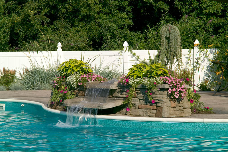 Inground Pools With Waterfalls gallery | yorktown pools & spas | york, pa
